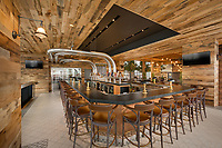 Architectural interior of 5th floor Bar in Norfolk VA Hilton Hotel by Jeffrey Sauers of Commercial Photographics, Architectural Photo Artistry in Washington DC, Virginia to Florida and PA to New England