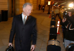 April 13, 2018 - FILE - President Trump pardoned Lewis 'Scooter' Libby, the former chief of staff to Vice President Cheney who was convicted in 2005 of perjury and obstruction of justice after a leak that disclosed a CIA agent's name. Pictured: Feb. 27, 2007 - Washington, DC, U.S. - LEWIS 'SCOOTER' Libby, former chief of staff to Vice President Dick Cheney, leaves the Federal District Court House in Washington, after jury deliberations in his perjury trial ended for the day. (Credit Image: © Bill Putnam/ZUMA Press)