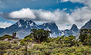 Key Summit Alpine Walk, along the Routeburn Track in Fiordland National Park, near Te Anau, Southland region, South Island of New Zealand. In 1990, UNESCO honored Te Wahipounamu - South West New Zealand as a World Heritage Area.