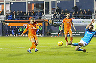 Luton Town forward Elliot Lee (10) shoots towards goal during the EFL Sky Bet League 1 match between Luton Town and Bradford City at Kenilworth Road, Luton, England on 27 November 2018.