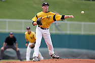 02 June 2016: Millersville's Cordell Shannon throws to first base. The Millersville University Marauders played the Lander University Bearcats in Game 12 of the 2016 NCAA Division II College World Series  at Coleman Field at the USA Baseball National Training Complex in Cary, North Carolina. Millersville won the semifinal game 4-2 and advanced to the championship series.