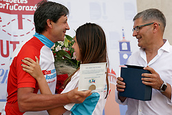 27-06-2019 NED: Awarding Alberto Diez, Ponferrada<br /> A big surprise for Alberto who was lured away from his MTB event to Ponferrada to be honored with a special awarding.