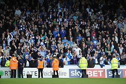 Bristol Rovers fans at Wycombe Wanderers - Photo mandatory by-line: Dougie Allward/JMP - Mobile: 07966 386802 26/04/2014 - SPORT - FOOTBALL - High Wycombe - Adams Park - Wycombe Wanderers v Bristol Rovers - Sky Bet League Two