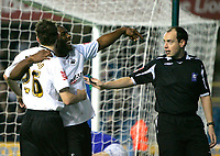 Photo: Tom Dulat/Sportsbeat Images.<br /> <br /> Millwall v Swansea City. Coca Cola League 1. 06/11/2007. Jason Scotland(R) of Swansea City celebrates his opener together with his team mate Paul Anderson(L). Swansea City leads 1-0