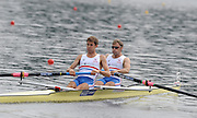 Poznan, POLAND,  GBR W8+,  Bow Jo COOK, Melanie WILSON, Michelle VEZIE, Natasha PAGE, Kristen STILLER,  Alison KNOWLES, Jessica EDDIE, Lindsay MAGUIRE and Cox Caroline O'CONNER competing in the women's eights, repechage, on the fourth day of the, 2009 FISA World Rowing Championships. held on the Malta Rowing lake,Wednesday  26/08/2009  [Mandatory Credit. Peter Spurrier/Intersport Images]