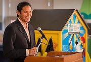 Brian Ching comments during a Read Houston Read news conference at Garcia Elementary School, September 4, 2014.
