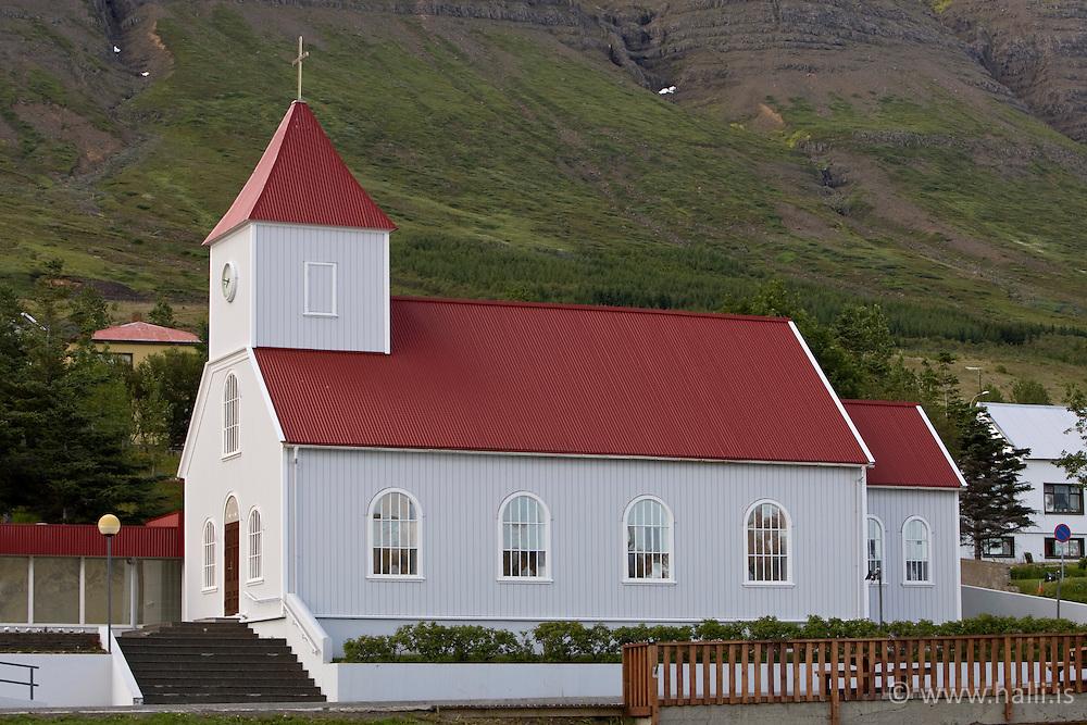 Church in Neskaupstadur (Nordurfjordur) Iceland - Kirkjan á Neskaupsstað