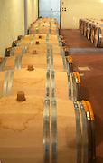 New barrels of fermenting white wine Domaine Vignoble des Verdots Conne de Labarde Bergerac Dordogne France