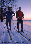 Outdoor recreation, Skiing, ski slopes, downhill skiing Cross Country Skiers, Susquehanna River, Harrisburg, PA