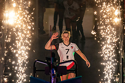 Rianne Vos of Apollo 8 during the cupfinal between Laudame Financials VCN vs. Apollo 8 on April 05, 2021 in sports hall MartiniPlaza, Groningen