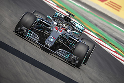 May 11, 2018 - Barcelona, Catalonia, Spain - LEWIS HAMILTON (GBR) drives during the first practice session of the Spanish GP at Circuit de Catalunya in his Mercedes W09 EQ Power.  (Credit Image: © Matthias Oesterle via ZUMA Wire)