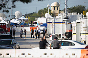 Pulse nightclub Shooting  In Orlando USA. <br /> 06-17-16.<br /> Day 6 of the FBI/ Police investigation in to the massacre in a gay nightclub in Orlando. The shootings at the Pulse where over 50 lost their lives is Americas largest mass killing. An ISIS radical Omar Mateen, of Ft Pierce Florida. <br /> The scene as it is today.... with Florida's Governor Rick Scott assessing the scene and talking to the law enforcement officers. <br /> Orlando, Florida, USA.<br /> Picture  Mark Davison for DailyMail.com<br /> Friday 17th June 2016.