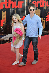 © licensed to London News Pictures. London, UK . 19/04/2011.Noel Gallagher and Noel's daughter Anais attend the film premiere of 'Arthur' at the O2 arena in London's Docklands today (19/04/2011). Please see special instructions for usage rates. Photo credit should read Theo Wood/LNP