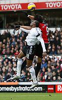 Photo: Steve Bond/Sportsbeat Images.<br /> Derby County v Blackburn Rovers. The FA Barclays Premiership. 30/12/2007. Roque Santa Cruz (R) gets above Claude Davis (L)