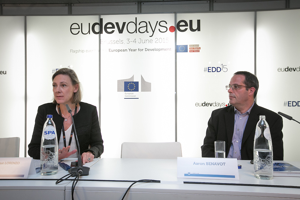 03 June 2015 - Belgium - Brussels - European Development Days - EDD - Education - Education for all - Achievements and challenges (2000-2015) - Veronique Lorenzo , Head of Unit for Education , Health and Research , Directorate-General for Development and Cooperation - EuropeAid - Aaron Benavot , Director - Education for All Global Monitoring Report © European Union