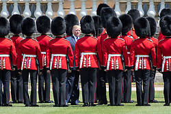 © Licensed to London News Pictures. 03/06/2019. London, UK. US President Donald Trump attends a ceremonial welcome at Buckingham Palace. The visit is on the first day of a three day state visit. Photo credit: Ray Tang/LNP