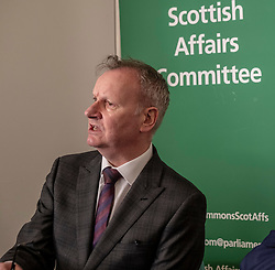 Pictured: Pete Wishart<br /> Today at the Crew 2000 offices in Edinburgh, the chair of the Scottish Affairs Committee Pete Wishart MP launched an inquiry into drug misuse in Scotland.  He was joined by members of his committee, Tommy Shephard (SNP), Danielle Rowley MP (Labour) and Christine Jardine (Lib Dem)<br /> <br /> <br /> Ger Harley   EEm 4 March 2019