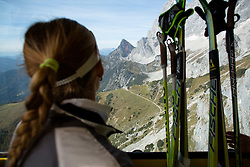 during Training camp of Slovenian Cross country Ski team on October 7, 2014 in Dachstein Getscher, Austria. (Photo By Matic Klansek Velej/ Sportida)