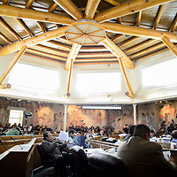 012714  Adron Gardner/Independent<br /> <br /> The Navajo Nation Tribal Council chambers fills up for day one of the winter council session in Window Rock Monday.