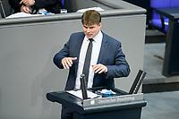 08 DEC 2020, BERLIN/GERMANY:<br /> Steffen Kotre, MdB, AfD, Haushaltsdebatte, Plenum, Reichstagsgebaeude, Deuscher Bundestag<br /> IMAGE: 20201208-02-106<br /> KEYWORDS:  Steffen Kotré, Rede