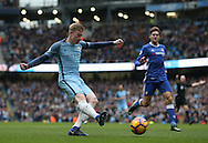 Kevin De Bruyne of Manchester City shoots during the Premier League match at the Etihad Stadium, Manchester. Picture date: December 3rd, 2016. Pic Simon Bellis/Sportimage