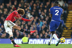 5 November 2017 - Premier League Football - Chelsea v Manchester United - Marouane Fellaini of Man Utd shoots wide - Photo: Charlotte Wilson / Offside