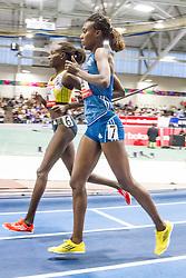 New Balance Indoor Grand Prix Track, womens 1000 meters, Lagat, Edao warmup