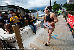 Annual bikini contest at the Naswa resort during Laconia Motorcycle Week. NH, USA. Thursday, June 14, 2018. Photography ©2018 Michael Lichter.