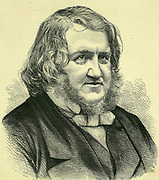 James Young Simpson (1811-1870) Scottish obstetrician. Pioneer of the use of Chloroform as an anaesthetic.  From an engraving published London, May 1870.