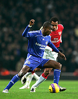 Photo: Tom Dulat/Sportsbeat Images.<br /> <br /> Arsenal v Chelsea. The FA Barclays Premiership. 16/12/2007.<br /> <br /> Gilberto of Arsenal and Salomon Kalou of Chelsea with the ball.