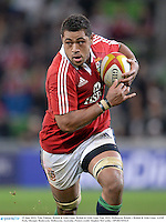 25 June 2013; Toby Faletau, British & Irish Lions. British & Irish Lions Tour 2013, Melbourne Rebels v British & Irish Lions. AAMI Park, Olympic Boulevard, Melbourne, Australia. Picture credit: Stephen McCarthy / SPORTSFILE