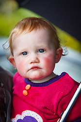 Girl with rosy cheeks and blue eyes, Ennis, County Clare, Ireland