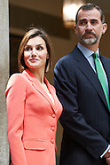 061615 Spanish Royals attend a meeting with Greatness of Spain