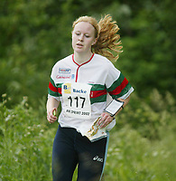 Orientering, 21. juni 2002. NM sprint. Marte G. Østby, Porsgrunn.