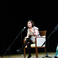Kat Banyard<br /> On stage at the Stoke Newington Literary Festival. 5 June 2010<br /> <br /> Picture by David X Green/Writer Pictures