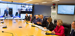 U.S. President Barack Obama makes a statement after receiving a briefing on Hurricane Matthew at the Federal Emergency Management Agency(FEMA) in Washington DC, October 5, 2016. Photo/ Chris Kleponis/Abaca