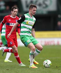 Matt Butcher of Yeovil Town - Mandatory by-line: Gary Day/JMP - 01/04/2017 - FOOTBALL - Huish Park - Yeovil, England - Yeovil Town v Carlisle United - Sky Bet League Two