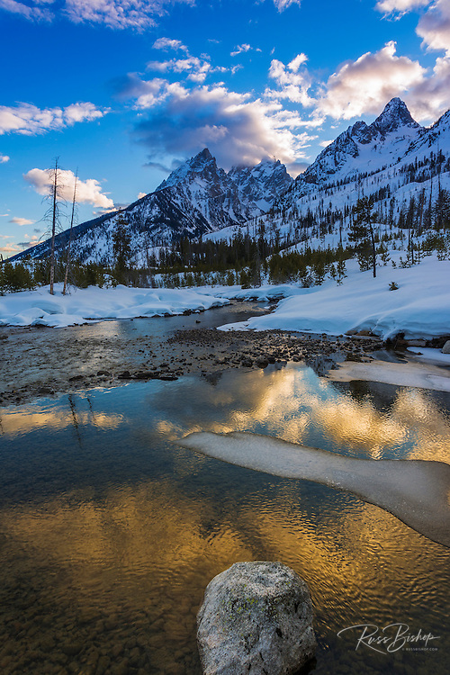 Clearing storm over the Tetons from Cottonwood Creek, Grand Teton National Park, Wyoming USA