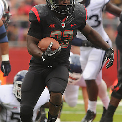 Oct 6, 2012: Rutgers Scarlet Knights running back Jawan Jamison (23) rushes during second half NCAA college football action between the Rutgers Scarlet Knights and UConn Huskies at High Point Solutions Stadium in Piscataway, N.J.