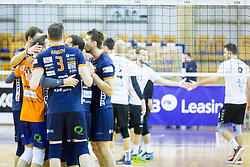 Players of ACH Volley during Volleyball match between AHC Volley and Calcit Volley in Round #4 of Slovenian first league, on December 28, 2017 in Hala Tivoli, Ljubljana, Slovenia. Photo by Ziga Zupan / Sportida