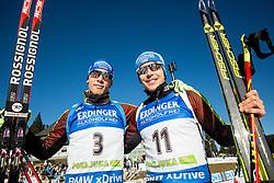 Simon Schempp (GER) and Andreas Birnbacher (GER) after the  Men 15 km Mass Start at day 4 of IBU Biathlon World Cup 2015/16 Pokljuka, on December 20, 2015 in Rudno polje, Pokljuka, Slovenia. Photo by Vid Ponikvar / Sportida