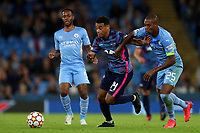 Football - 2021 / 2022 UEFA Champions League - Group A, Round One - Manchester City vs RB Leipzig - Etihad Stadium - Wednesday, 15th September 2021<br /> <br /> Tyler Adams of RB Leipzig and Fernandinho of Manchester City