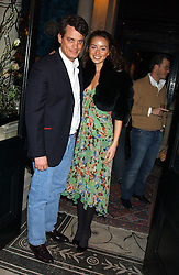 MATTHEW MELLON and NOELLE RENO at a party hosted by Tanner Krolle held at Leighton House, 12 Holland Park Road, London W14 on 8th December 2005.<br /><br />NON EXCLUSIVE - WORLD RIGHTS