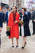 Koningsdag 2018 in Groningen / Kingsday 2018 in Groningen.<br /> <br /> Op de foto: Prinses Aimee en Prinses Annette