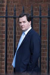 © licensed to London News Pictures. London, UK 17/10/2012. George Osborne leaving Downing Street on 17/10/12. Photo credit: Tolga Akmen/LNP