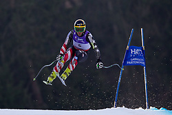 12.02.2011, Kandahar, Garmisch Partenkirchen, GER, FIS Alpin Ski WM 2011, GAP, Herren Abfahrt, im Bild Steven Nyman (USA) takes to the air competing in the men's downhill race on the Kandahar race piste at the 2011 Alpine skiing World Championships, EXPA Pictures © 2010, PhotoCredit: EXPA/ M. Gunn