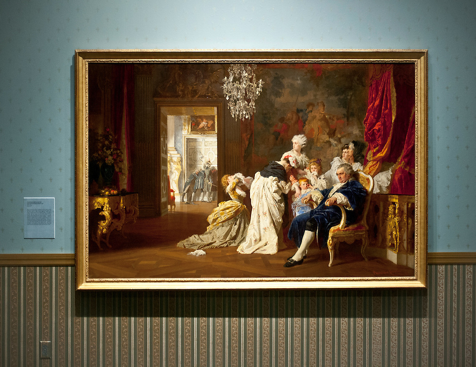 Painting of Louis the XVI and Marie Antoinette and Their Children at Versailles, by the Hungarian painter Gyulia Benczur in 1872, at Art Basel Miami Beach