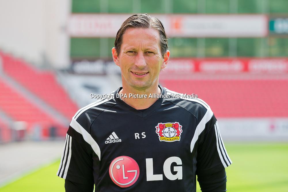 German Soccer Bundesliga - Photocall Bayer 04 Leverkusen on August 4th 2014: Head Coach Roger Schmidt.
