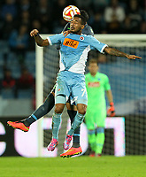Fotball<br /> UEFA Europa League<br /> 02.10.2014<br /> Slovan Bratislava vs SSC Napoli<br /> Foto: Gepa/Digitalsport<br /> NORWAY ONLY<br /> <br /> Image shows Miguel Britos (Napoli) and Lester Peltier (Bratislava).