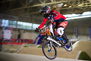 #23 (STANCIL Felicia) USA at the 2014 UCI BMX Supercross World Cup in Manchester.